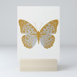 Silver Butterfly Mini Art Print