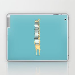 A Book Lover (blue) Laptop & iPad Skin
