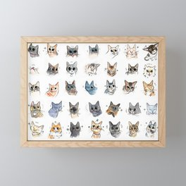 50 cat bleps! Framed Mini Art Print