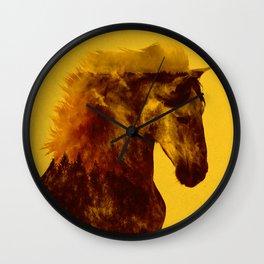 Proud Stallion Wall Clock