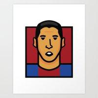 Luis Suarez Art Print