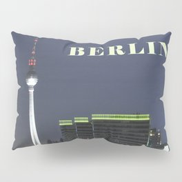 Night at river Spree in BERLIN Pillow Sham