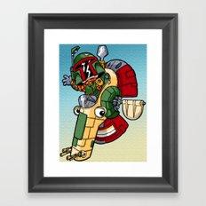 Boba the Bountyhunter Framed Art Print