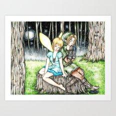 Link&Navi Art Print