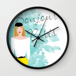 Bonjour Paris Wall Clock