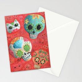 Mexican Sugar Skulls Stationery Cards