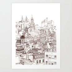 Paris roofscape Art Print
