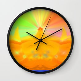 Lightning area Wall Clock