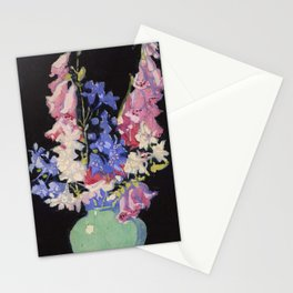 Garden Flowers Margaret Jordan Patterson ca. 1920 color woodcut on paper  Stationery Cards