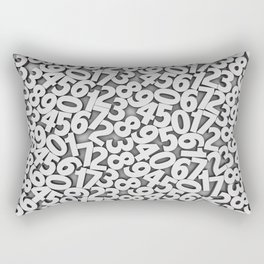 By the numbers Rectangular Pillow