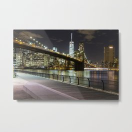 Brooklyn Bridge -  Timelapse Metal Print