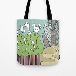 Birds and Antennas Tote Bag