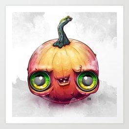 Benjamin the Dumb Pumpkin Art Print