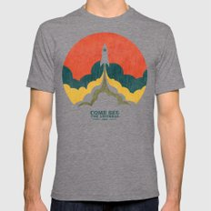 Come See The Universe MEDIUM Mens Fitted Tee Tri-Grey