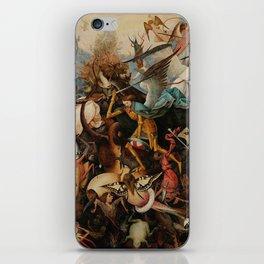 Pieter Bruegel the Elder The Fall of the Rebel Angels iPhone Skin