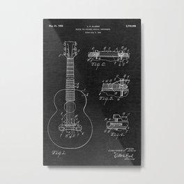 Gibson Acoustic Guitar Patent Metal Print