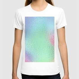Simply Metallic in Holographic Rainbow T-shirt