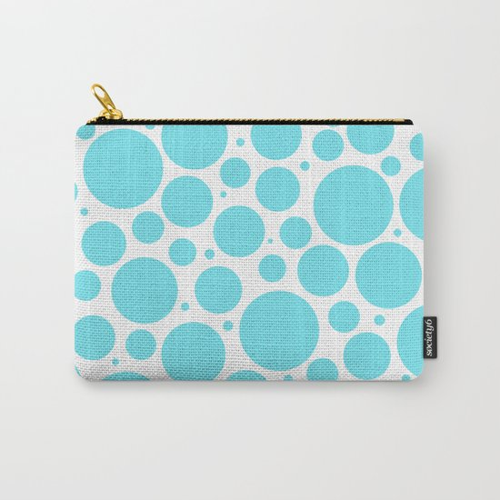 Aqua polkadots- Dot turquoise pattern Carry-All Pouch