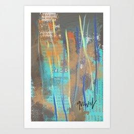 Blue abstract Punjab Art Print