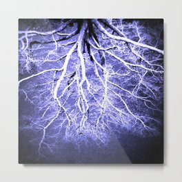 Passage to Hades Periwinkle Gray Metal Print