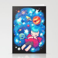 barachan Stationery Cards featuring space by barachan