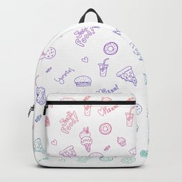 Colorful junk food pattern Backpack