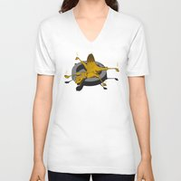 camel V-neck T-shirts featuring Camel by 2mzdesign
