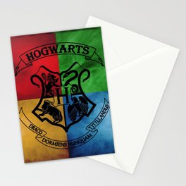 Wizard School House Crest HP Stationery Cards
