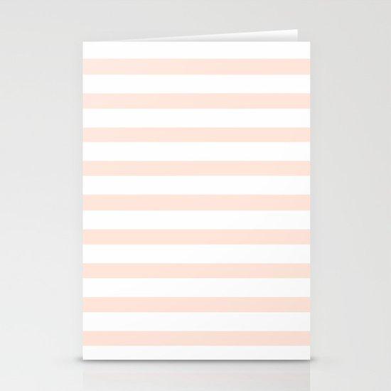 PEACH STRIPES Stationery Cards