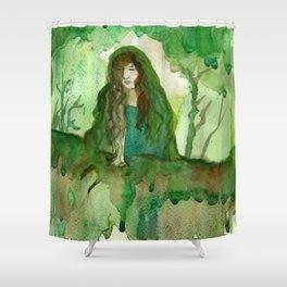 Akka The Earth Goddess Shower Curtain