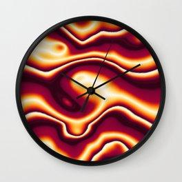Bright Orange to Dark Orange Wavy Pattern Wall Clock
