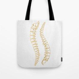 Gold Vertebrae Tote Bag