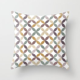 Colorful circles Throw Pillow