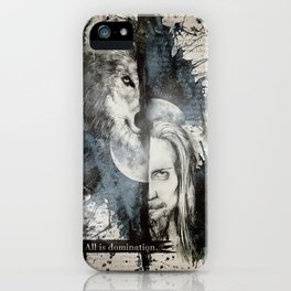 Florent & the wolf iPhone Case