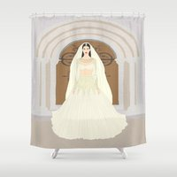 bride Shower Curtains featuring The Bride by RaJess