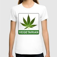 vegetarian T-shirts featuring VEGETARIAN Weed by Spyck