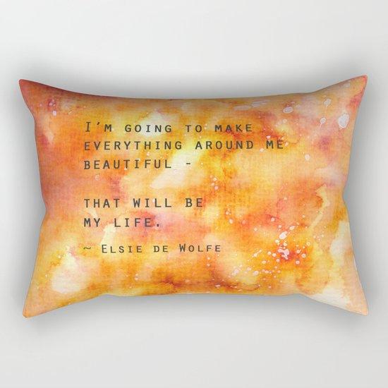 Make Everything Beautiful Rectangular Pillow