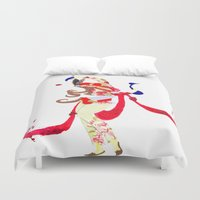 persian Duvet Covers featuring Persian lady by Sheefteh
