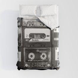 Something Nostalgic - black and white #decor #society6 #buyart Duvet Cover