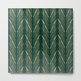 Wheat Grass Teal Metal Print
