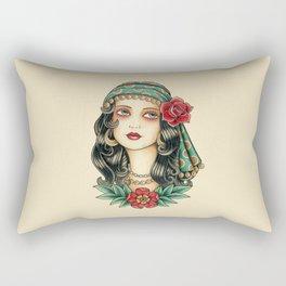 Gipsy tattoo Rectangular Pillow