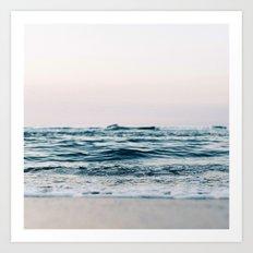 Sea Water Flow Art Print