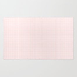 tiny pink grid Rug