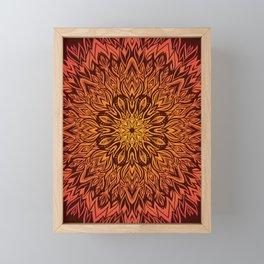 Fire Spirit Mandala Art Framed Mini Art Print