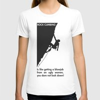 climbing T-shirts featuring Rock Climbing by Rothko