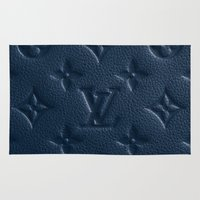 lv Area & Throw Rugs featuring Blue LV by I Love Decor