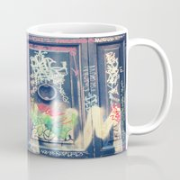 doors Mugs featuring doors by dillon hesse