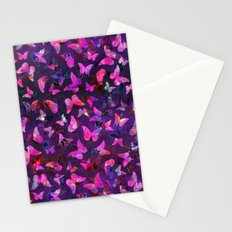 Butterfly Forest Purple Stationery Cards