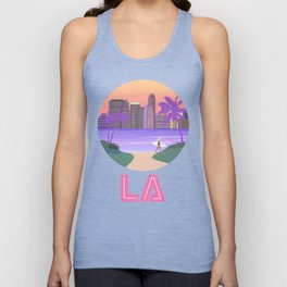 Los Angeles City Art Unisex Tank Top