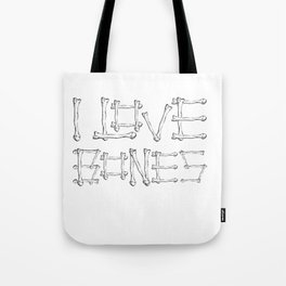I Love Bones Funny X-Ray Tech Design Tote Bag